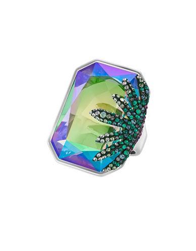 Swarovski Faceted Crystal Slip-on Ring
