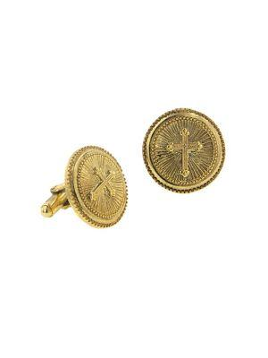 Lord Taylor Cross Round Cufflinks
