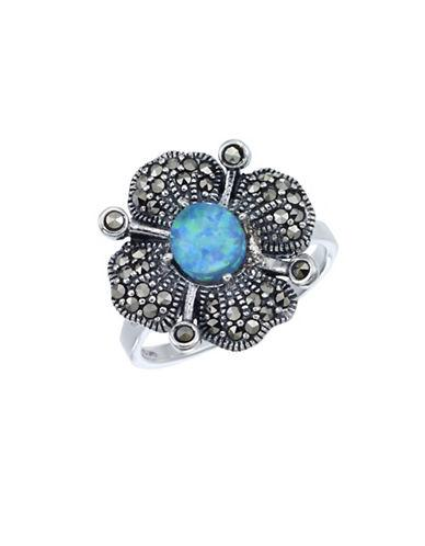 Lord & Taylor Opal And Sterling Silver Ring