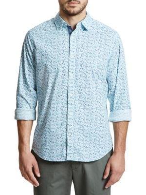 Nautica Classic-fit Tropical Leaf Button-down Shirt