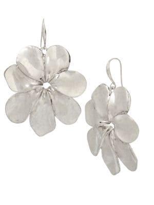 Robert Lee Morris Femme Petal Flower Drop Earrings- 2.5in