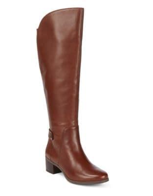 Anne Klein Jelaw Knee-high Wide Calf Leather Boots