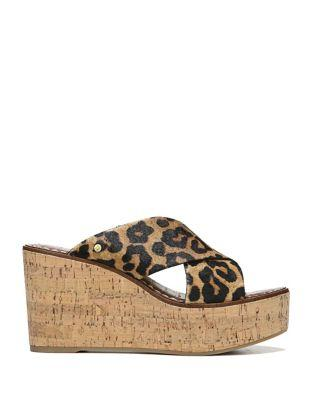 Sam Edelman Darlene Calf Hair Platform Wedges
