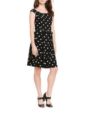 Lauren Ralph Lauren Polka Dot Print Dress