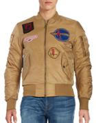 American Stitch Patched Bomber Jacket