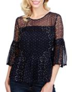 Lucky Brand Sheer Lace Top