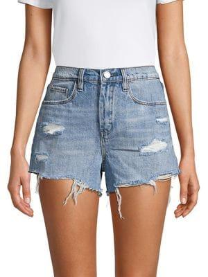 Blank Nyc Deconstructed Denim Shorts