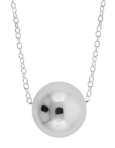Lord & Taylor Sterling Silver Circular Pendant Necklace