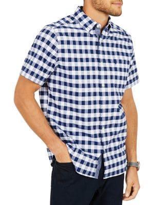 Nautica Classic-fit Stretch Oxford Plaid Shirt