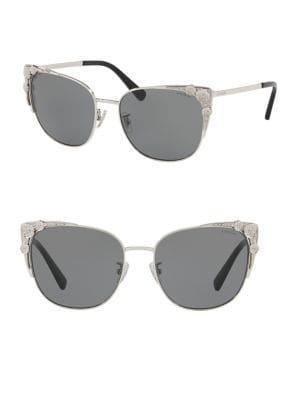 Coach 56mm Metal Cateye Sunglasses