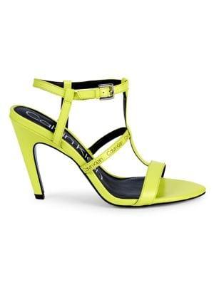Calvin Klein Gemma Neon Strappy Sandals