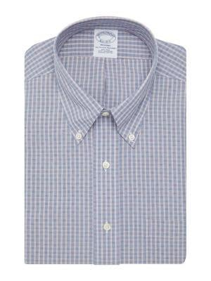 Brooks Brothers Red Fleece Textured Check Button-down Shirt