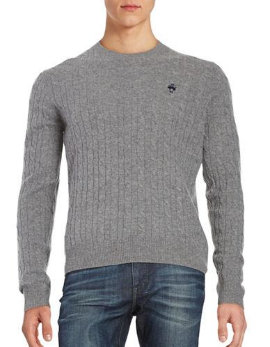 Brooks Brothers Red Fleece Cableknit Wool Sweater