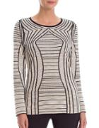 Nic+zoe Striped Linen-blend Roundneck Top