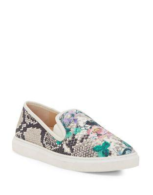 Vince Camuto Becker Textured Floral Slip-on Sneakers