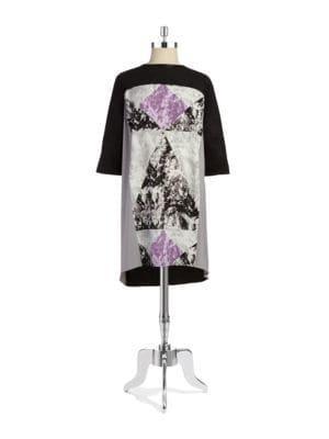 Dknyc Plus Plus Faux-suede Sheath Dress
