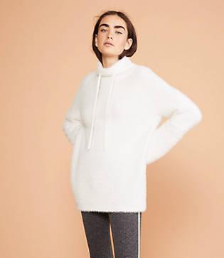 Lou & Grey Lashout Drawstring Neck Tunic Sweater