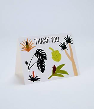 Lou & Grey Red Cap Cards Botanical Thank You Card