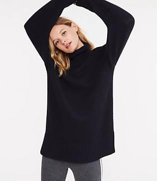 Lou & Grey Rollneck Tunic Sweater