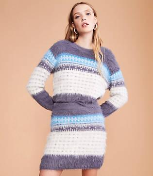 Lou & Grey Fuzzed Fairisle Sweater