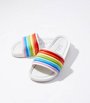 Lou & Grey Melissa Rainbow Slide Sandals