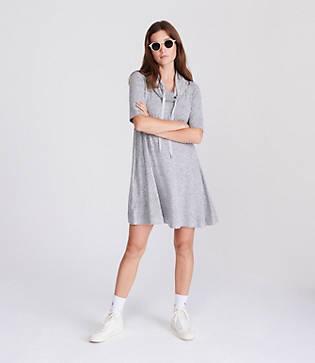 Lou & Grey Drawstring Cowl Dress