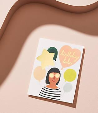 Lou & Grey Red Cap Cards Birthday Babe Card