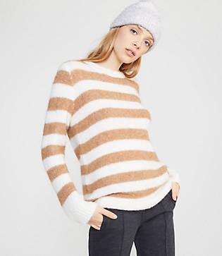 Lou & Grey Striped Plushfuzz Tunic Sweater