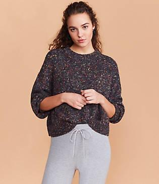Lou & Grey Sprinkle Cropped Sweater