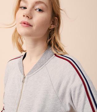 Lou & Grey Sundry Stripe Track Jacket