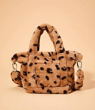 Lou & Grey Leopard Print Faux Fur 6-hour Bag