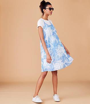 Lou & Grey Palmwash Strappy Swing Dress