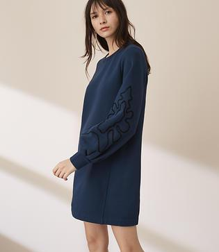 Lou & Grey Squiggle Blouson Sweatshirt Dress