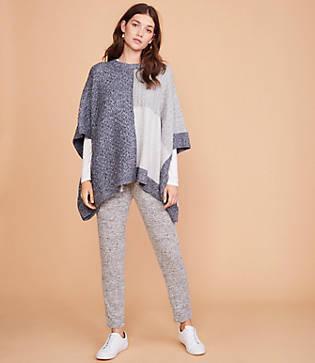 Lou & Grey Patchwork Poncho Sweater