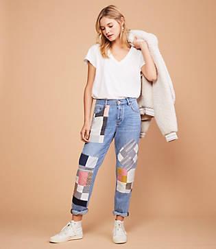 Lou & Grey Patchwork Boyfriend Jeans
