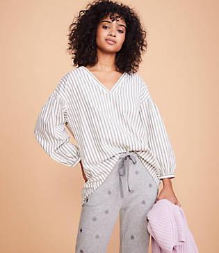 Lou & Grey Striped V-neck Shirt