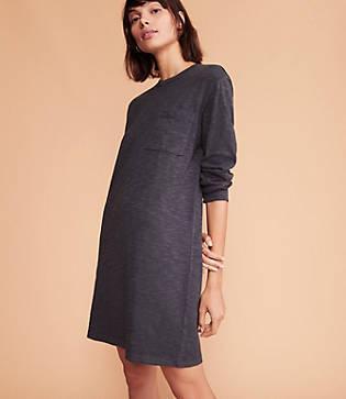 Lou & Grey Cozy Jersey Pocket Tee Dress