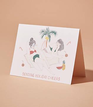 Lou & Grey Red Cap Cards Sending Cheers Card