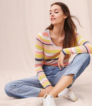 Lou & Grey Striped Warming Knit Tee