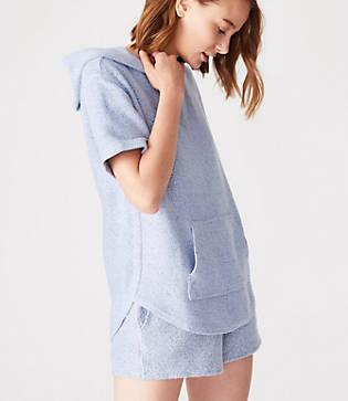 Lou & Grey Garment Dye Tweed Hoodie Top