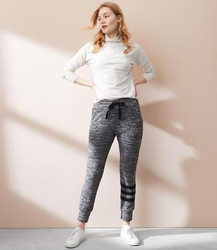Lou & Grey Sundry Stripe Burnout Jogger Pants