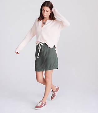 Lou & Grey Roped Chambray Skirt