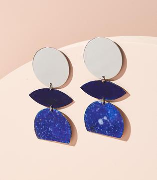 Lou & Grey We Dream In Colour Orchid Splatter Earrings