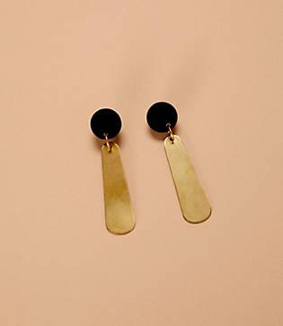 Lou & Grey Happy In Finland Brass Drop Earrings