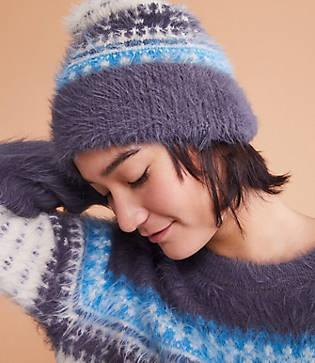 Lou & Grey Fairisle Fuzzed Hat