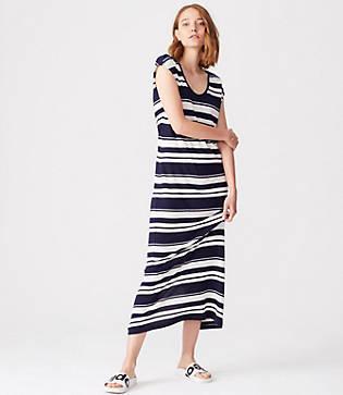 Lou & Grey Striped Maxi Tee Dress