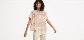 Lou & Grey Striped Cropped Pop-on Shirt