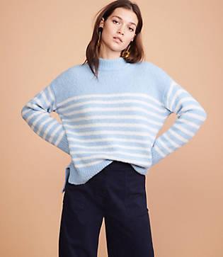 Lou & Grey Striped Mockneck Sweater