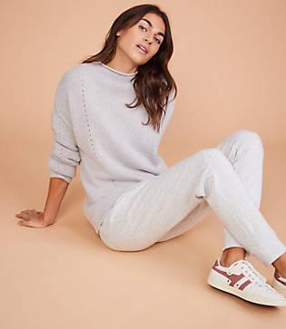 Lou & Grey Pointelle Cashmere Sweater