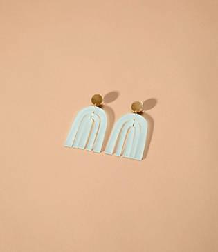 Lou & Grey Happy In Finland Sea Glass Green Rainbow Earrings